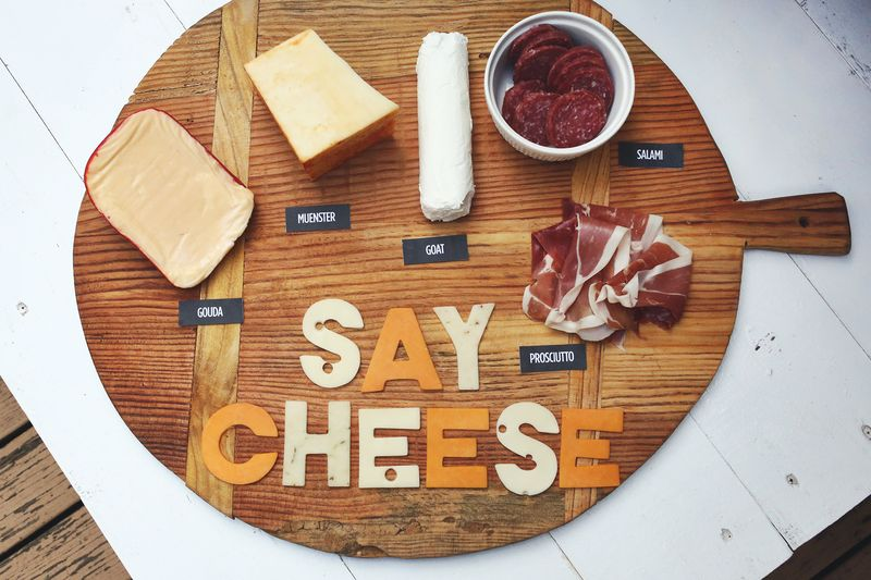 Get creative with your cheese tray, from A Beautiful Mess.