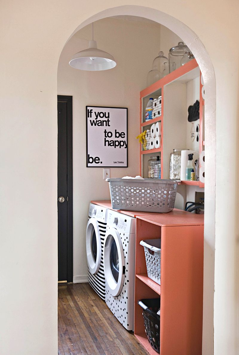 12 neat laundry room diys for small spaces on bhg