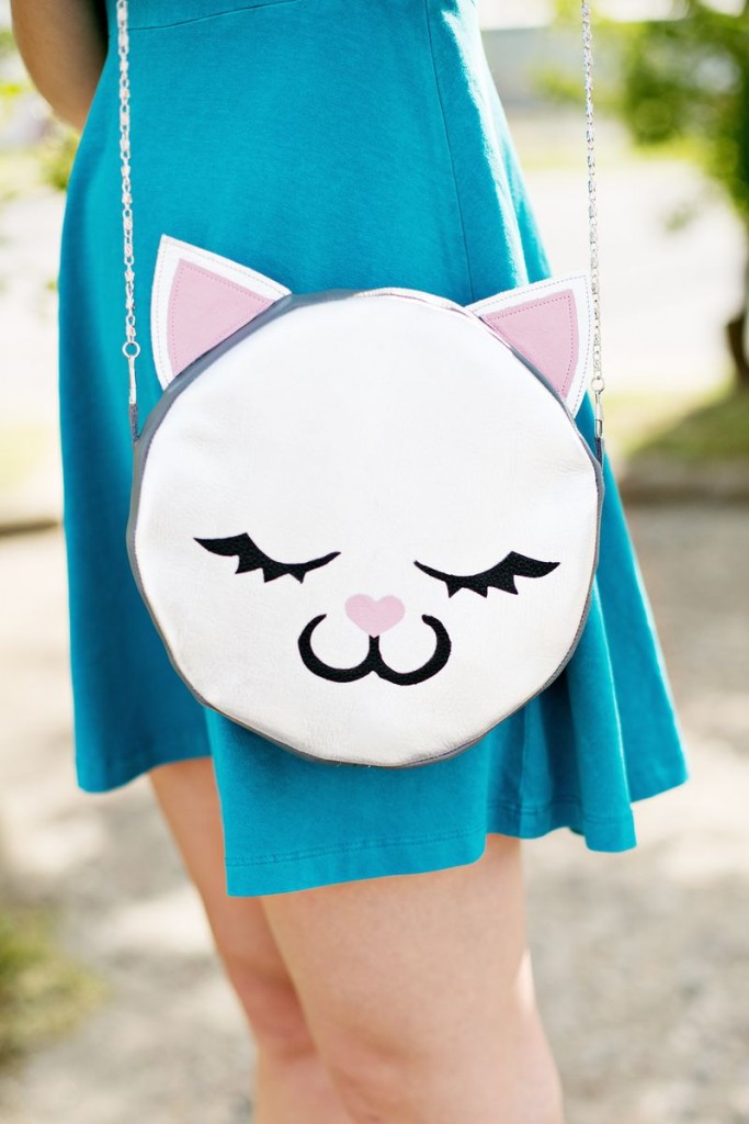 Do you know your way around the sewing machine? Then you probably should make this Leather Cat Purse DIY, from A Beautiful Mess.