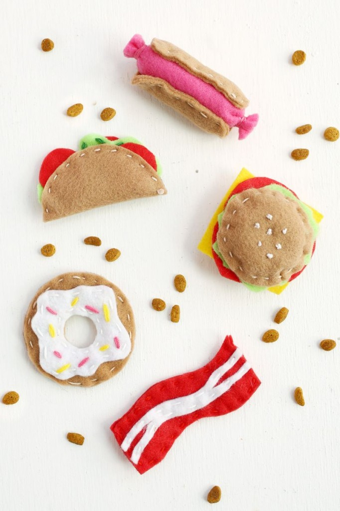 And lastly, don't forget to get your furry friend a gift. I love this Junk Food Cat Toy DIYs, from A Beautiful Mess.