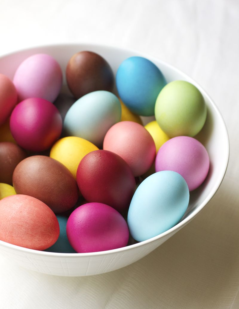 Rit-dyed eggs from Urban Comfort.