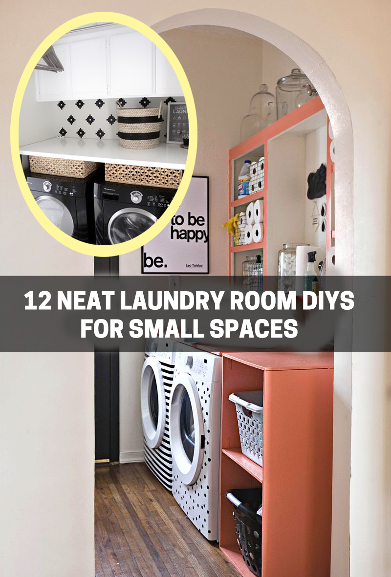 12 neat laundry room diys for small spaces on bhg - Laundry room ideas small spaces collection ...