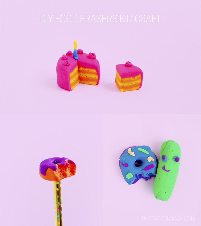 DIY Food Erasers Kid Craft!