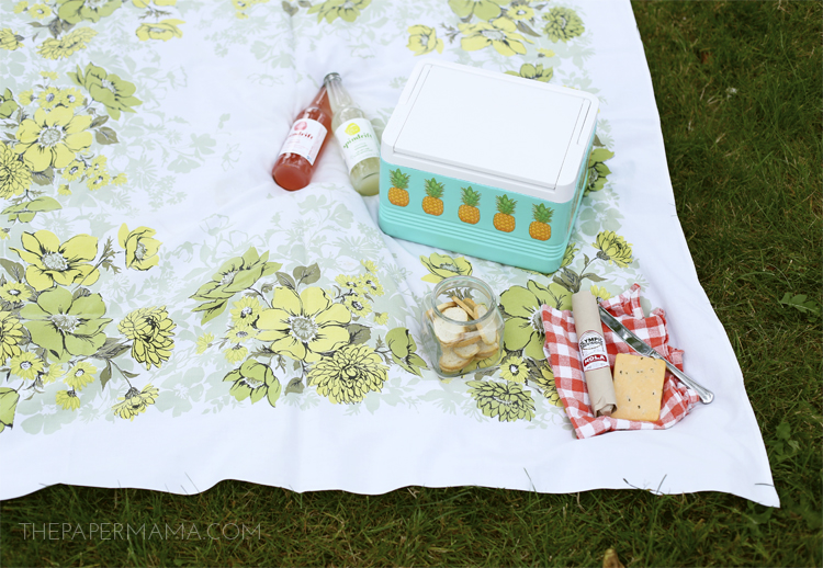 Pineapple Picnic Cooler Makeover