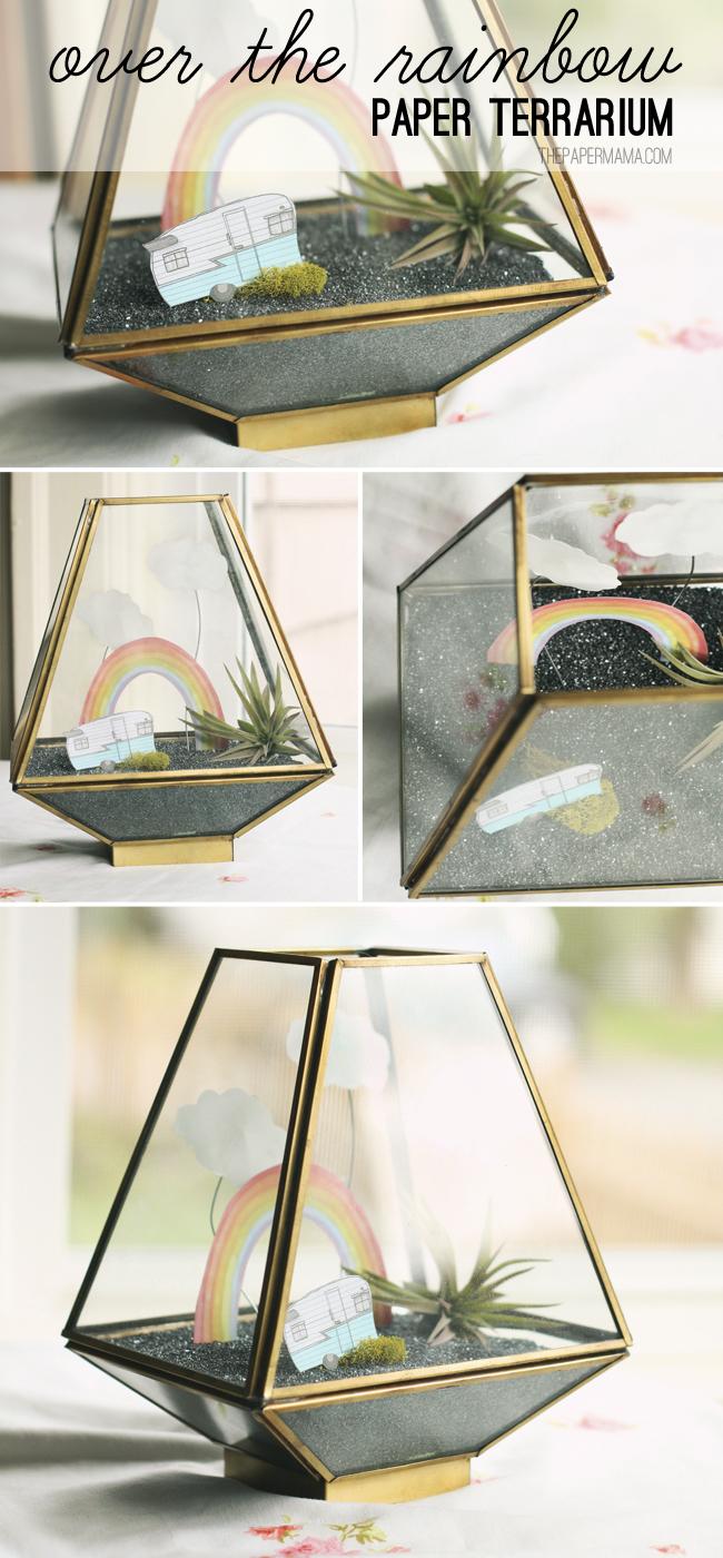Over the Rainbow Paper Terrarium