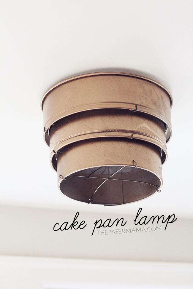 Cake Pan Lamp Shade // thepapermama.com