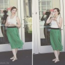 Self green skirt thepapermama.com