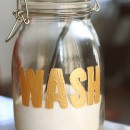 Homemade Laundry Detergent + Painted Jar // thepapermama.com