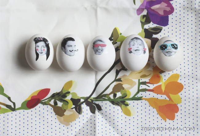Take some fun photos with your family to create some Silly Face Easter Eggs, from The Paper Mama.