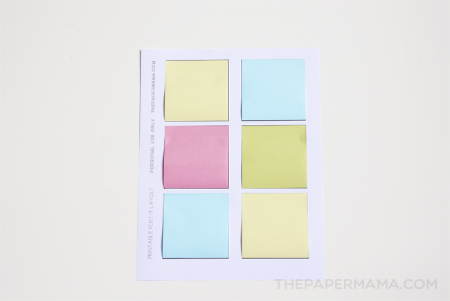 Printable PostIt Notes Free Layout To Print And Make Your Own