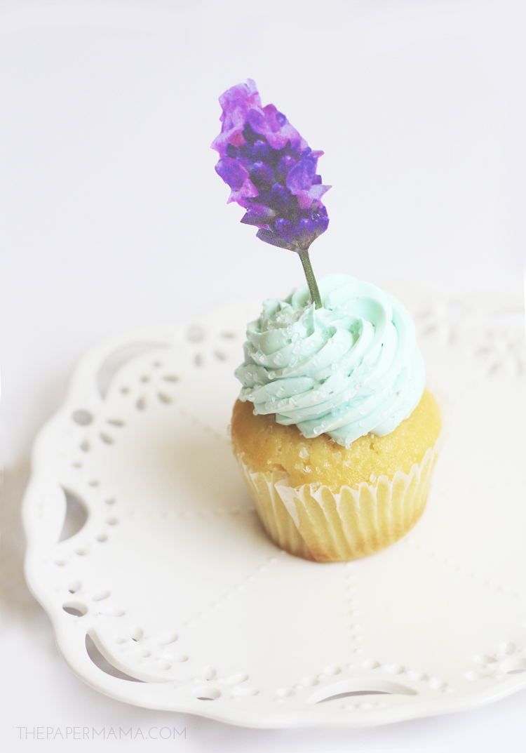 Garden Flower Cupcake Toppers With Free Printables Diy