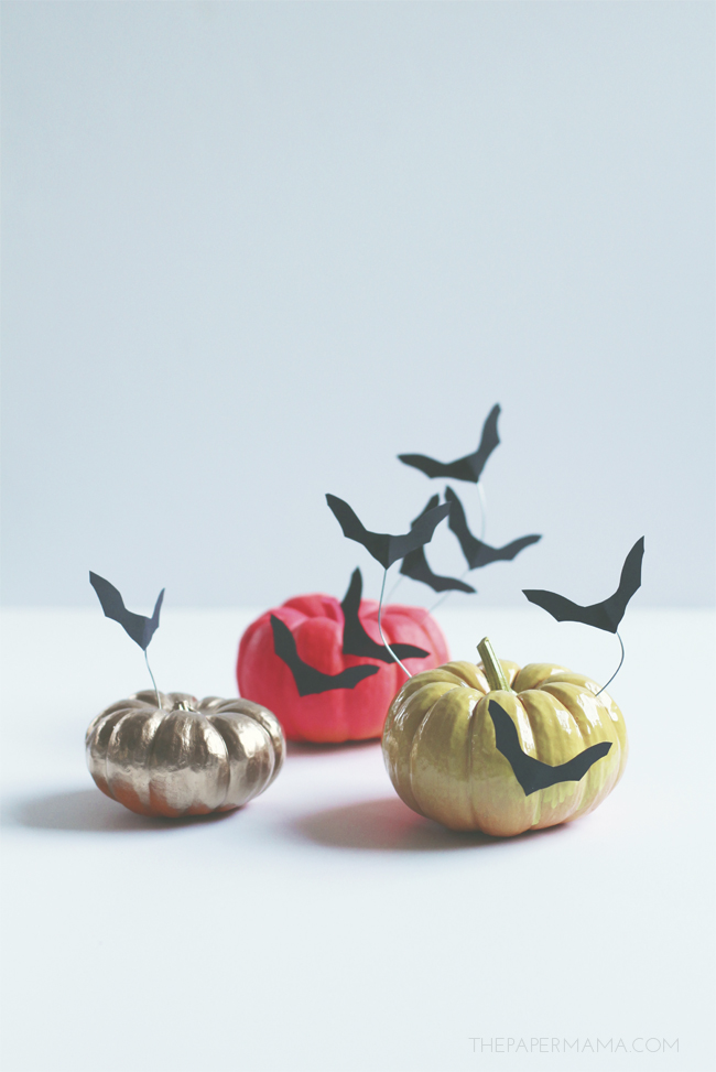 Colorful No Carve Mini Pumpkins