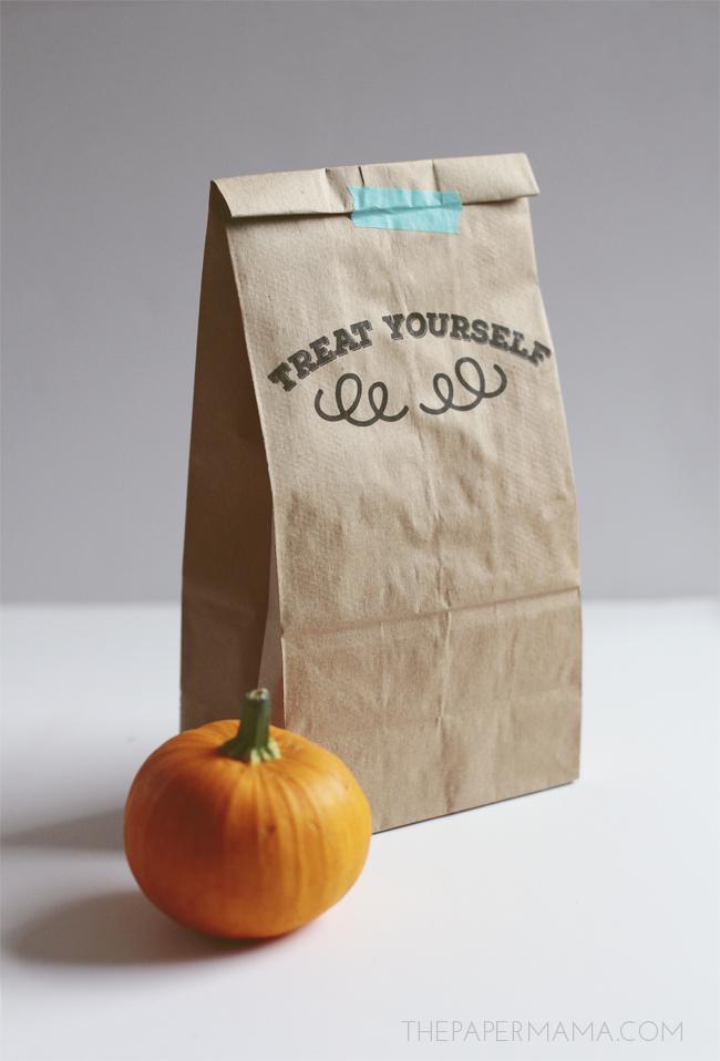 Printable Paper Sack Gift Bags