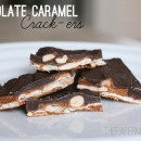 Chocolate Caramel Crack-ers // thepapermama.com