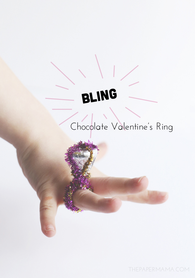 Chocolate Kisses Valentine's Rings