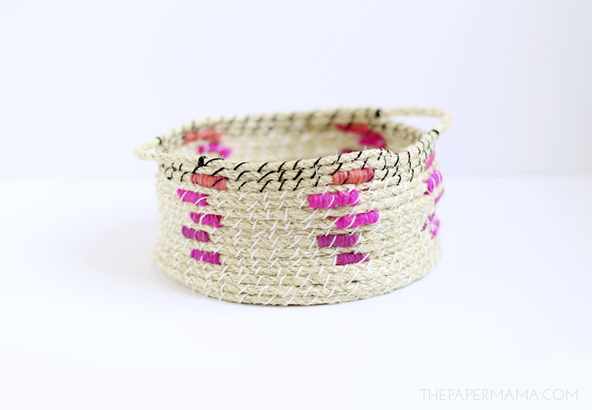 Easy Woven Rope Basket DIY