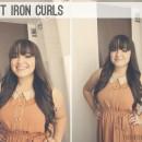 Flat Iron Curls thepapermama.com