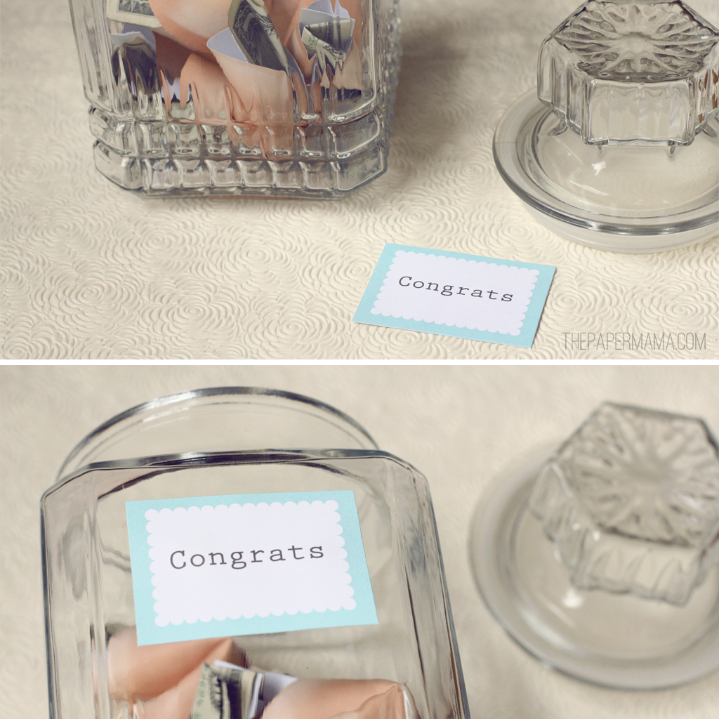 Fortune Cookie Cash Jar (with free printables)