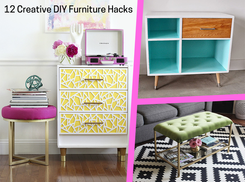12 Creative DIY Furniture Hacks