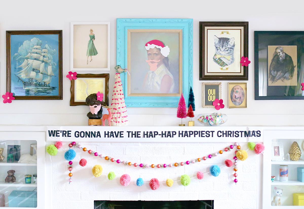 Hap-Hap Happiest Christmas Banner - thepapermama.com