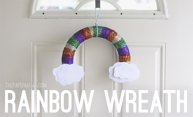 Magical Rainbow Wreath DIY // thepapermama.com