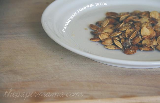 Baked Parmesan Pumpkin Seeds Recipe