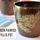 Silkscreened Amaryllis Pot thepapermama.com