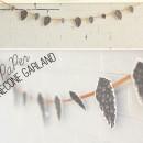 Paper Pinecone Garland
