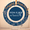 Festival of Lights Hanukkah Wreath thepapermama.com