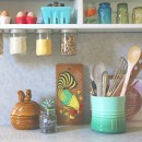 Under Cabinet Jar Storage // thepapermama.com