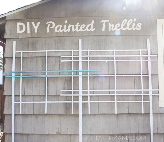 Painted Trellis DIY // thepapermama.com
