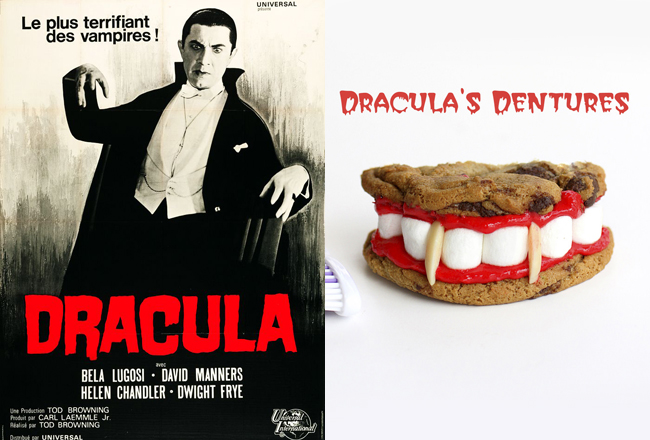 Watch Dracula while chewing on these Dracula's Dentures (on The Girl Who Ate Everything).