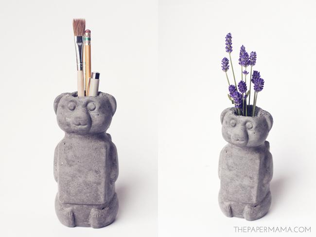 Concrete Honey Bear // thepapermama.com