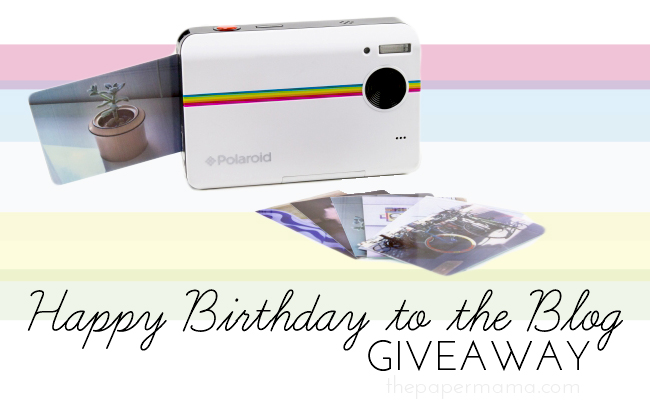 Happy Birthday Blog Giveaway // thepapermama.com