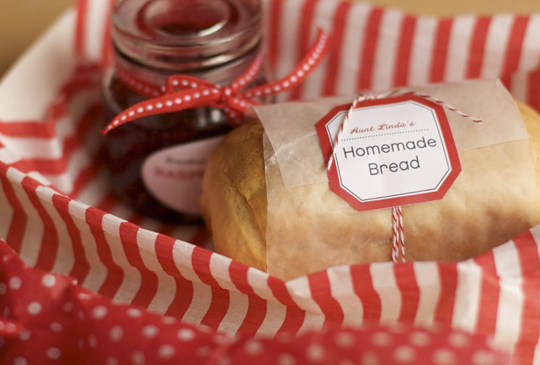 I would LOVE homemade bread and jam as a tasty gift for the holidays, on Project Wedding.