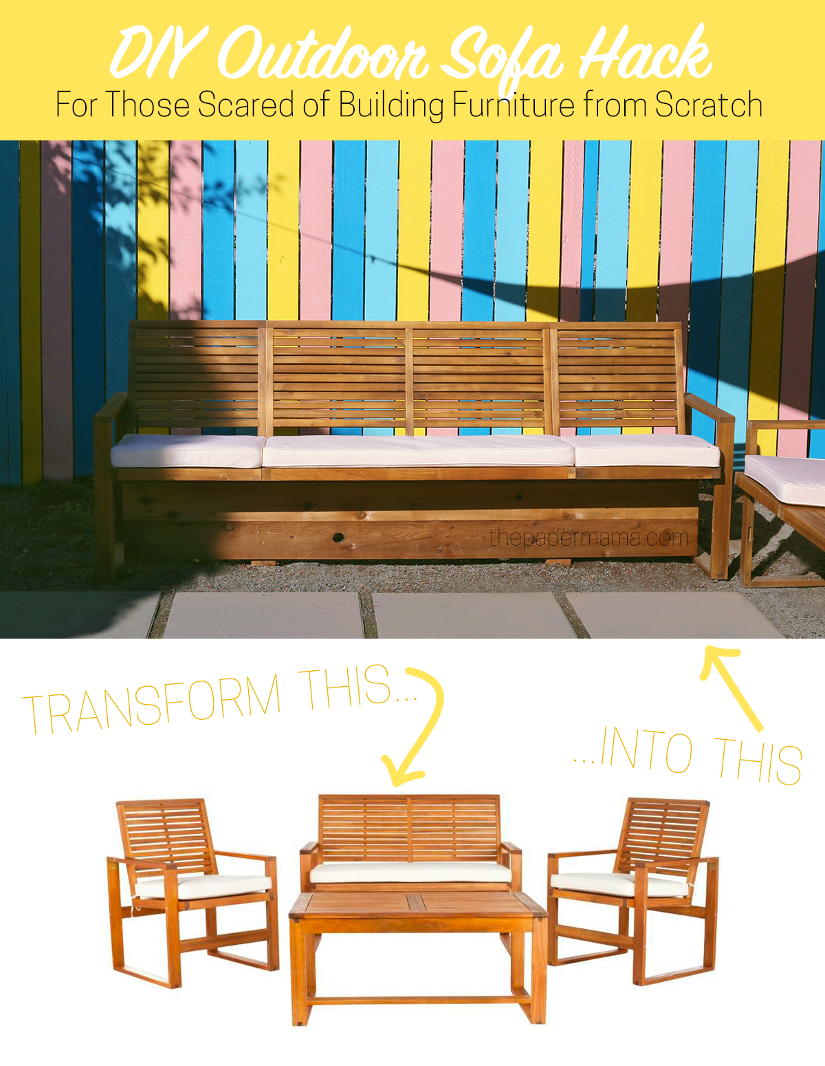 My DIY Outdoor Sofa Hack – For Those Scared of Building Furniture from Scratch