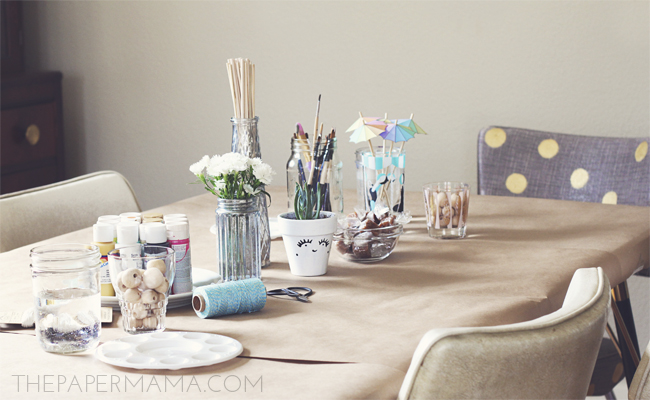 Craft Time with Friends, a Yummy Coffee Milkshake Recipe // thepapermama.com