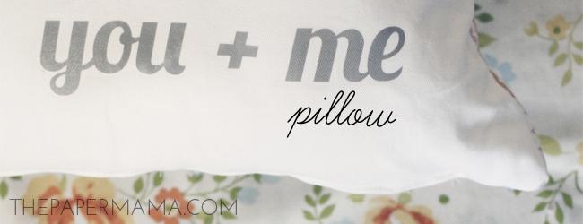 You Plus Me Pillow // thepapermama.com