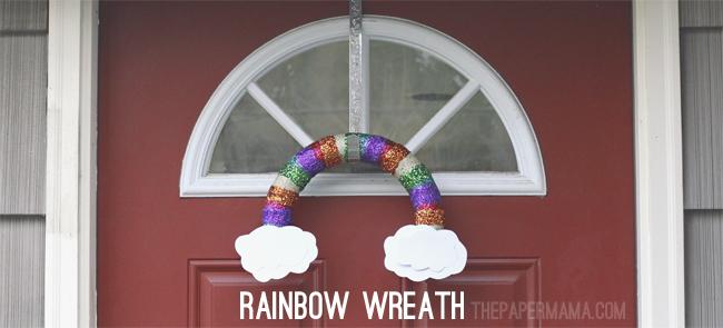 Rainbow Wreath // thepapermama.com