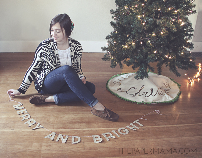 Merry and Bright Banner for Minnetonka // thepapermama.com