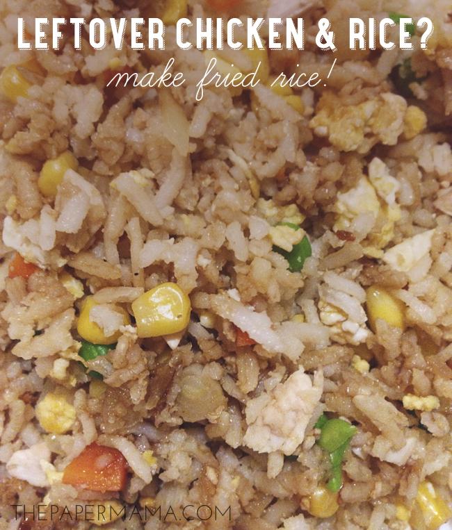 fried rice recipe // thepapermama.com