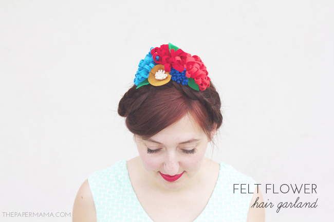 Felt Flower Hair Garland DIY // thepapermama.com