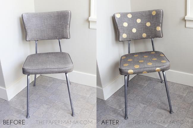 https://thepapermama.com/2013/07/gold-polka-dot-chair/