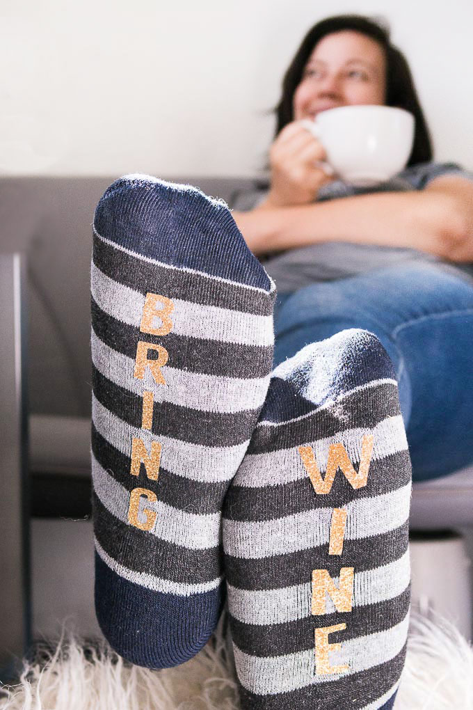 I'm 99% sure these socks were made for me. Find the DIY on Tried and True.