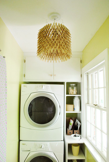 How appropriate is this? A clothespin lamp I'm a laundry room. Found on Young House Love.