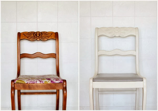 http://lovegrowswild.com/2013/10/dining-chair-makeover-how-to-strip-paint-and-recover-chairs/