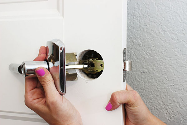 Now that you have your doorknob ready to go, you have to install it! Check out this tutorial on the Home Depot blog to see how to install a door knob.