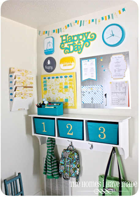 Do you feel like you need more organization in your life? This family command center sitting in the entry will really help (plus, it's better than a bunch of clutter), from The Homes I Have Made.