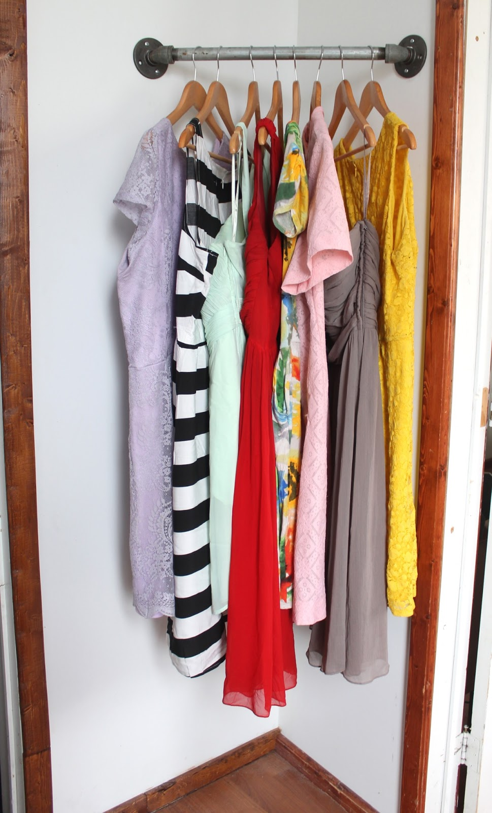 This is so clever. Creating a little extra hanging storage in an unused corner! Found on Radical Possibility.