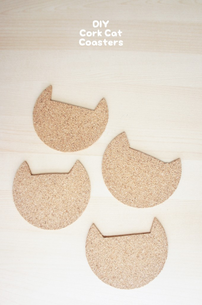 These really are the perfect cat lady gift: Cork Cat Coasters, from The Pink Samurai.